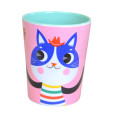 Melamine cup cat pink MC1 bck