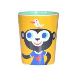 Melamine cup monkey bulldog yellow MC9