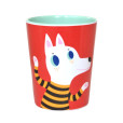 Melamine cup wolf dog red MC3 bck