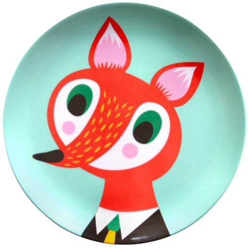 Melamine plate fox mint MP3