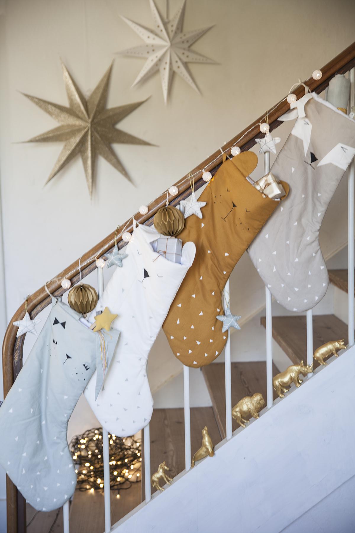 Weihnachts-Strumpf, Christmas Stockings, weiß, FABELAB   Truls & Trine