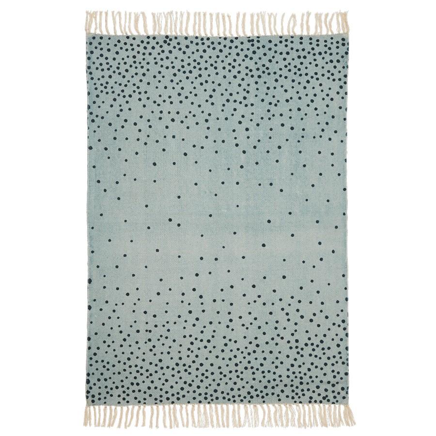 Teppich, 90 x 120 cm, blaugold, Done by Deer – Truls & Trine