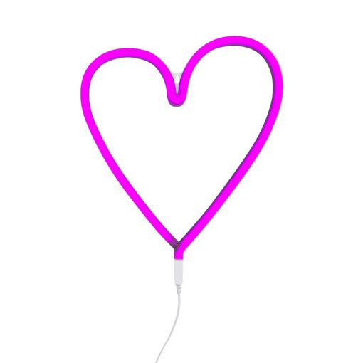 neon01 LR neon style light heart- pink