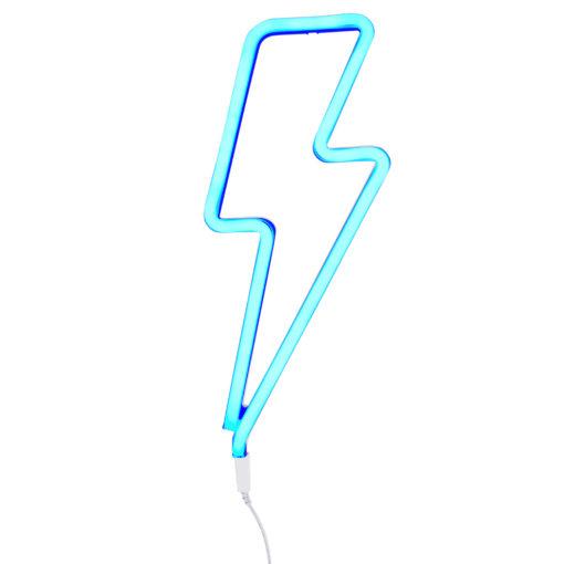 neon05-1 LR neon style light lightning bolt- blue