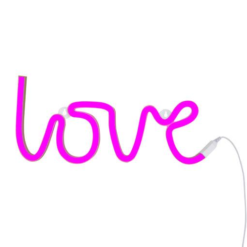 neon07-1 LR neon style light love- pink