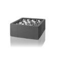 Bällebad grau hellgrau 110x110x40 400 Bälle
