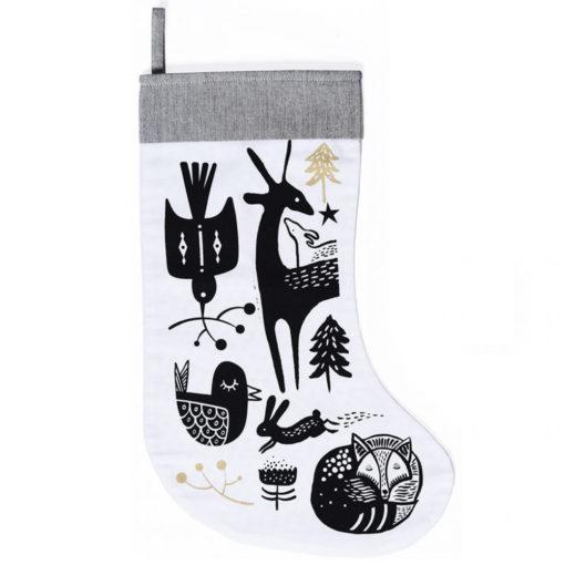 wg3003-Winter-Animals-Stocking-Black-on-White-1-2