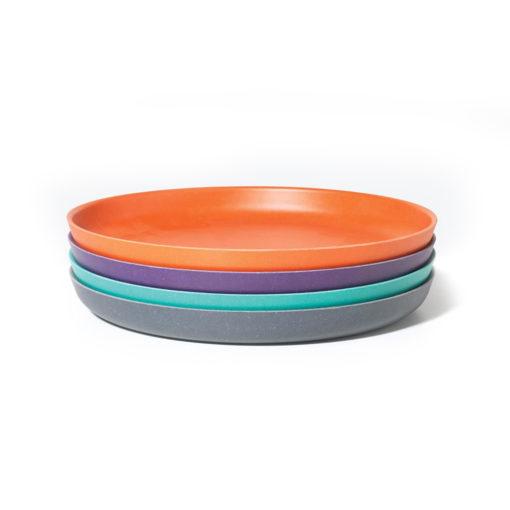 Teller 4er-Set_lila,orange,türkis,grau1_trulsundtrine